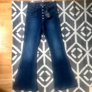 Lucky Brand High Rise Bell Flares
